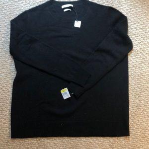 Black cashmere sweater